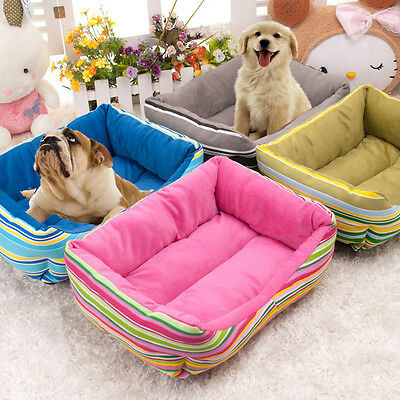 Colourfull Luxury Extra Soft  Warm Comfy Fabric Dog Cat Pet Bed Puppy Washable