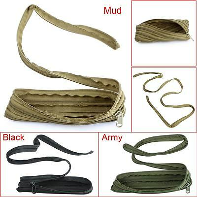 Multifunctional Army Military Outdoor Survival Zipper Cord Rope Pouch Debris Bag