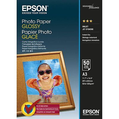 Epson Photo Paper Glossy A3 50 Sheets 200 g/m2 - C13S042537 S042537