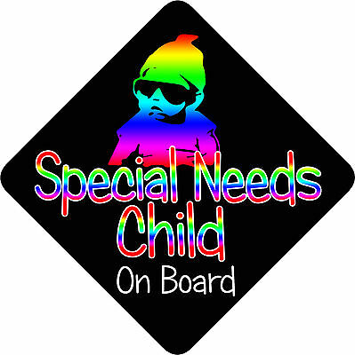 Special Needs Child On Board  Car Sign Baby/Child On Board Unpersonalised