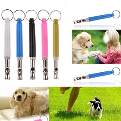 90MM Dog Puppy Pet Training Whistle Silent Ultrasonic Adjustable Sound WHITE