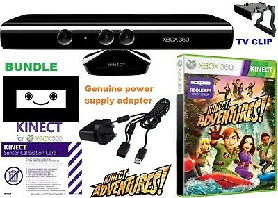 Kinect FULL SET , XBOX 360 with GAME and POWER ADAPTER, TV CLIP, FAST DISPATCH