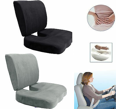 Memory Foam Coccyx Orthoped Seat Cushion Back Support Lumbar Relief Pillow  TN