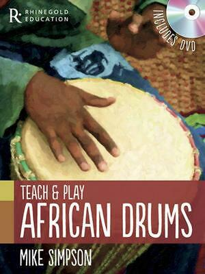 Teach and Play African Drums by Mike Simpson (English) Paperback Book Free Shipp
