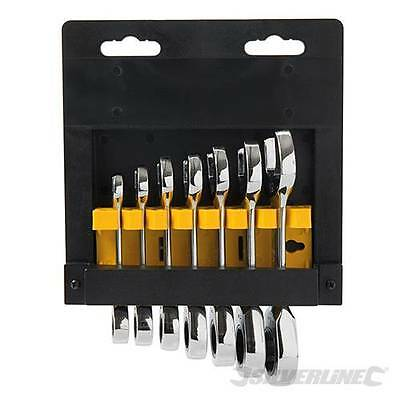 Stubby Ratchet Spanner Set 7pce 8mm-19mm  199916