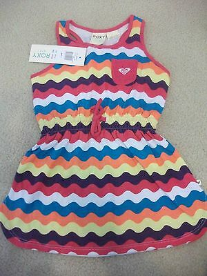 Girls size 4 ROXY Rainbow St Jean wavy GELATI Summer dress *NEW* RRP $39.99
