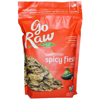 New Go Raw Organic Spiced Sprouted Spicy Fiesta Seeds With Celtic Sea Salt Snack