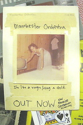 Manchester Orchestra I'm Like A Virgin Losing A Child promo poster NEW Cope Math