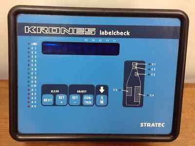"Krones - ""Labelcheck"" - made by Stratec, Gmbh - Type 4590"