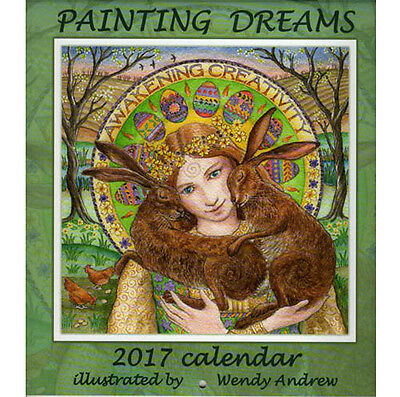 2017 PAGAN WICCAN WALL CALENDAR Solstice CELTIC HARE GODDESS WENDY ANDREW