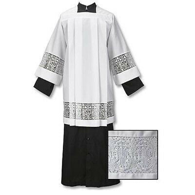 Latin Cross and IHS Lace Surplice, x-large - Free Shipping