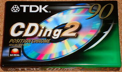 TDK CDing2 90 - NEW/SEALED blank chrome cassette tape - Type II - 90 minutes