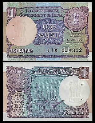 India 1 RUPEE 1991 Letter B Sign 48 P 78Ag UNC OFFER !
