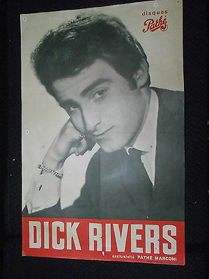 DICK RIVERS 60s DISQUES PATHE RARE AFFICHE FRENCH POSTER ORIGINAL