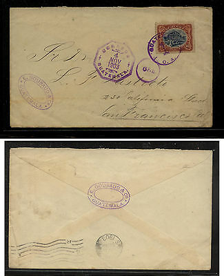 Guatemala  120 on cover to US  1903 nice  cancels               RES0720