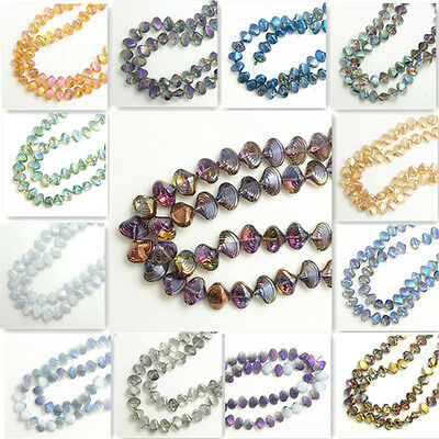 2016 New 20pcs Glass Crystal Seashells Loose Spacer Beads 10x13mm