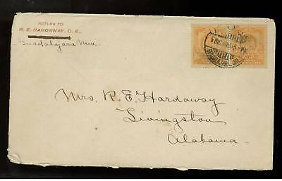 1905 Mexico cover to USA Pair # 307