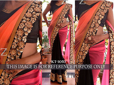 New Bollywood Indian Designer Sari Thread Work Asian Wedding Party Wear Sari