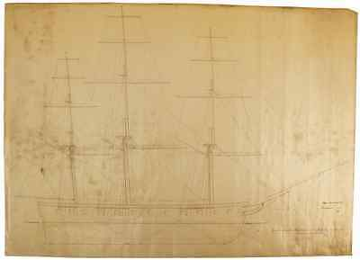 Plan for Ship U.S.S. Macedonian - Commodore Matthew Perry's Expedition to Japan