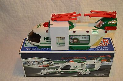 Hess Truck 2001 Helicopter W/motorcycle & Cruiser In New Condition (B)