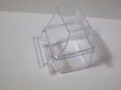 Bird budgie canary hooded clear feeder waterer food water cup bowl w perch