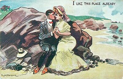 Postcard.comic.artist Signed.g.m.payne.postmarked 1908.'i Like This Place'