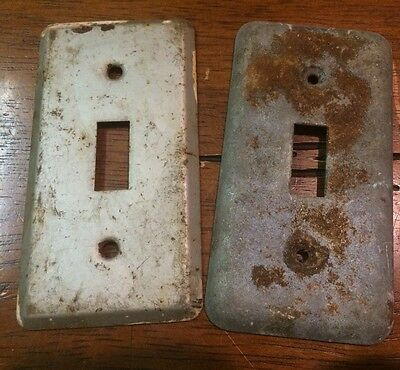 Industrial Light Switch Plate Steampunk Rust Patina Lot of 2