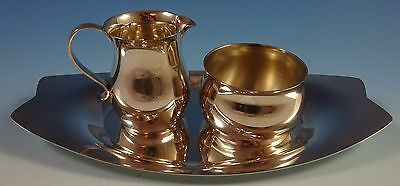 Cordis by Tiffany and Co Sterling Silver Sugar and Creamer 2pc Set w/Tray #1266