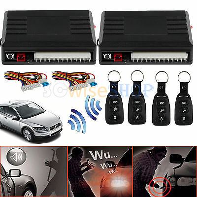 2x Remote Central Kit Universal Car Door Lock Vehicle Keyless Entry System DT