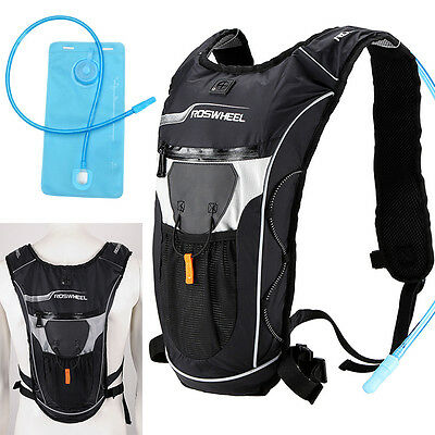 5L Bike Bicycle Hydration Pack Shoulder Backpack + 2L Water Bag Cycling Travel