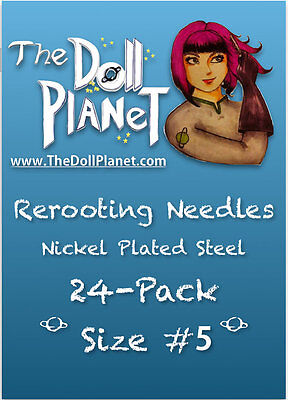 24 Pack #5 Rerooting Needles Steel for My Little Pony Barbie Monster High Dolls
