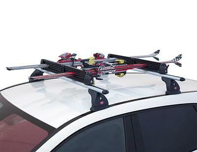 """Fabbri """"aluski"""" Ski & Snowboard Roof Carrier For 3 Pairs Of Skis / 2 Boards"""