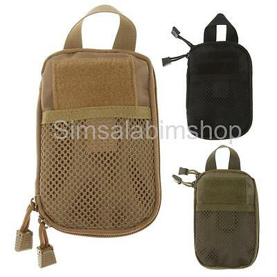 Tactical MOLLE Pouch Outdoor Camping Hiking Travel Accessory Bag EDC Tool Bag