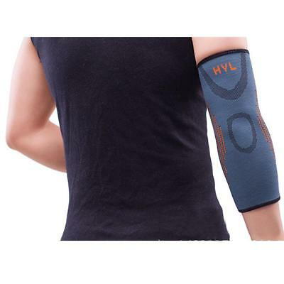 Sports Elastic Elbow Pads Sleeve Compression Support Brace Injury Wrap Grey