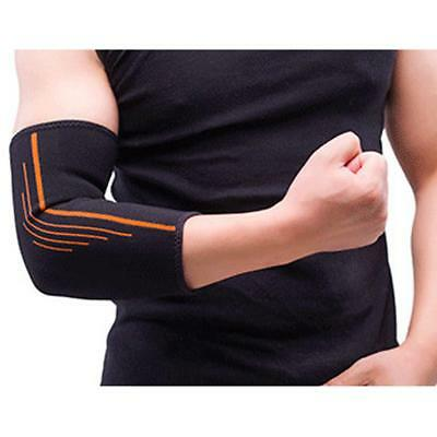 Sports Elastic Elbow Pads Sleeve Compression Support Brace Injury Wrap Black