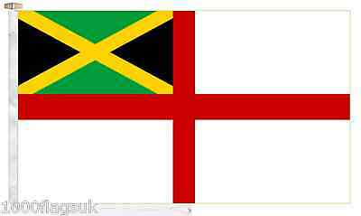 Jamaica Navy Ensign Roped & Toggled 2 Yard Boat Flag