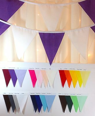 Fabric Bunting - PYO Colours & Length from 1m - parties, weddings..