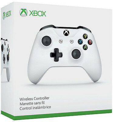 Genuine Microsoft Xbox One S White Wireless Bluetooth Controller TF5-00001 - VG