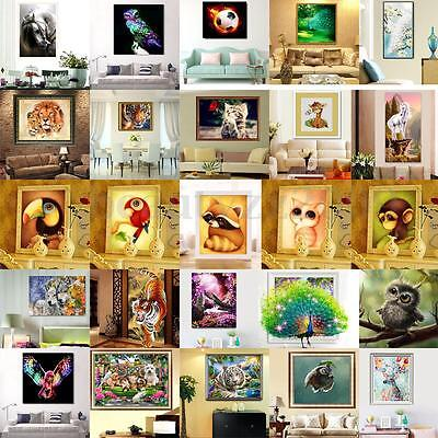 DIY 5D Diamond Painting Various Animal Embroidery Cross Crafts Stitch Home Decor