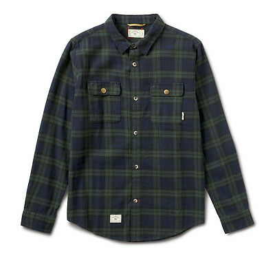 Fourstar Forester Flannel long-sleevedGreen/Blue Shirt - Large (LIMITED EDITION)
