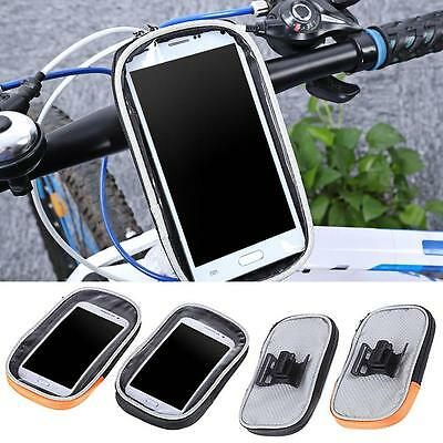 Bike Bicycle Motorcycle Phone Case Bag Handlebar Mount Holder Waterproof P4F4