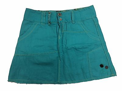 Girls Diesel Skirt Gomy Linen Turquoise Age 8 - 16 Years NEW