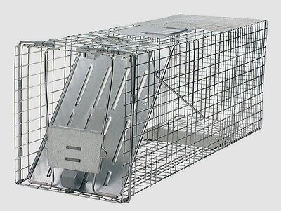 """New! HAVAHART Live Animal Trap 32"""" Wire Cage RACCOONS Woodchucks Groundhogs 1079"""