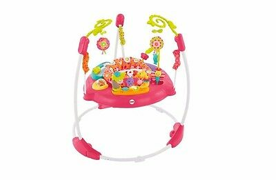 Fisher-Price Pink Petals Jumperoo Activity Bouncer Center Jumper Seat Toys