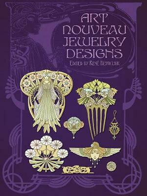 Art Nouveau Jewelry Designs by Rene Beauclair (English) Paperback Book Free Ship