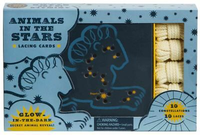 Animals in the Stars Lacing Cards by Robie Rogge Hardcover Book (English)