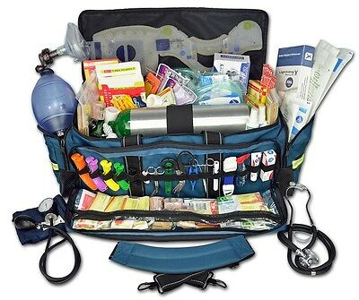 Emergency Medical Trauma Kit Bag Stocked First Responder Supplies Oxygen EMT EMS