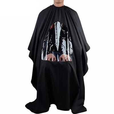 Hairdresser Hair Cutting Gown Cape Barber Apron With Viewing Transparent Window
