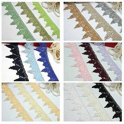 "2.75/"" Black Navy Lilac Mint Green Gray Pink Venice DIY craft Lace Trim By 15/"""