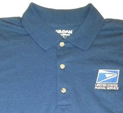USPS Embroidered Polo Shirt / S-3XL / Navy Blue  50/50 USPS1 SHIRT Free Shipping